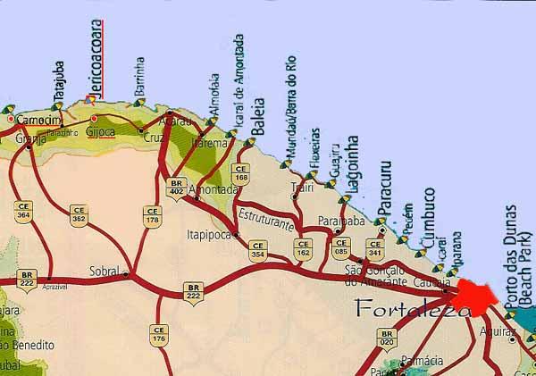 Kaart van omgeving Cumbuco